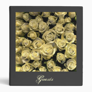 Yellow Roses Guest Book 3 Ring Binder