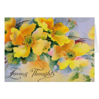 Yellow Roses in a Victorian style - Greeting Cards