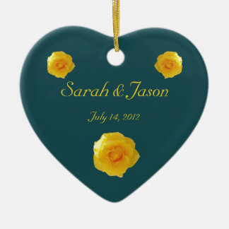 Yellow Roses keepsake ornament