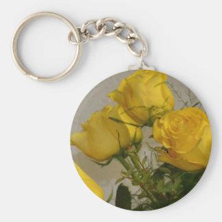 Yellow Roses Keychain