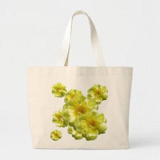 Yellow Roses Large Tote Bag