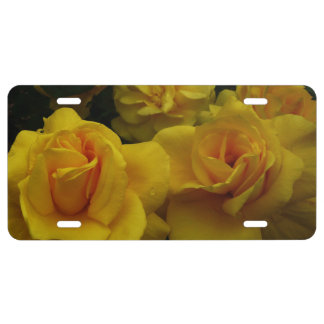 Yellow Roses License Plate