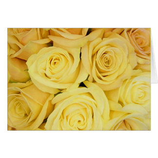 YELLOW Roses Note Cards