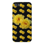 Yellow Roses on Black iPhone 5/5S Case