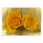 Yellow Roses on Lace Easter Greeting Card