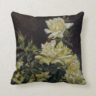 Yellow Roses Original painting American MoJo Pillo Pillow