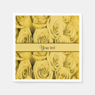 Yellow Roses Paper Napkin