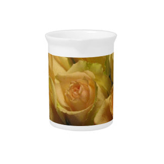 Yellow Roses Beverage Pitchers