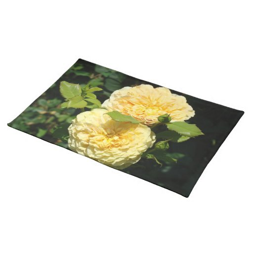 Yellow Roses Placemats Floral Rose place mats
