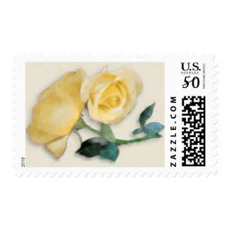 Yellow Roses Postage Stamp