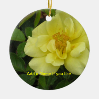 Yellow Roses Round Ornament