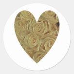 Yellow Roses Round Sticker