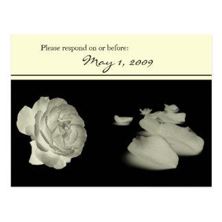 Yellow Roses RSVP Postcard