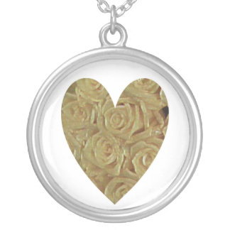 Yellow Roses Silver Plated Necklace