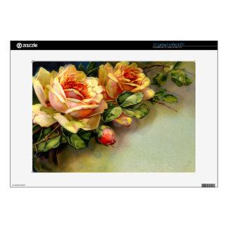 """Yellow Roses 15"""" Laptop Skins"""