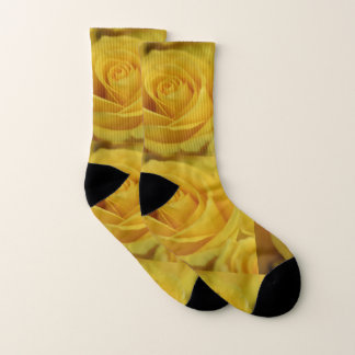 Yellow roses socks