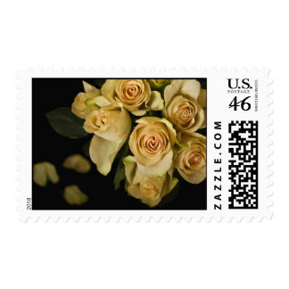 Yellow Roses Still life Heart Postage