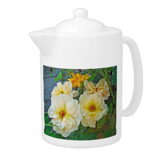 Yellow Roses Teapot at Zazzle