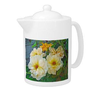 Yellow Roses Teapot