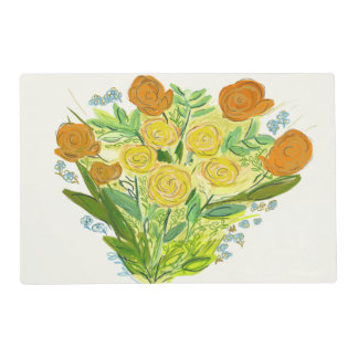 yellow roses that smile placemat