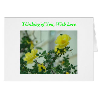 Yellow Roses, Thinking of You, With Love Card