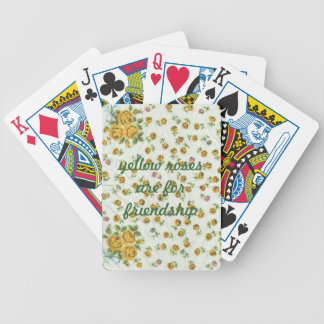 Yellow Roses Vintage Hanky Playing Cards