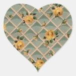 Yellow Roses Vintage Wallpaper - Sticker