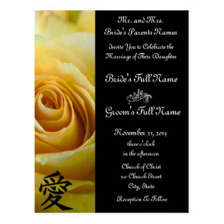Yellow Roses Wedding Invitations and Favors