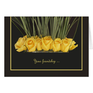 Yellow Roses Will You Be My Bridesmaid? Card