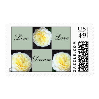 Yellow Roses With Inspirational Words Postage