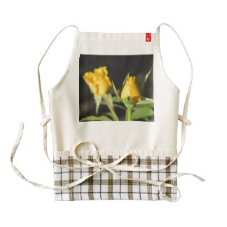 Yellow Roses Zazzle HEART Apron