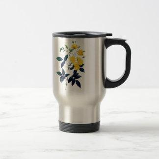 Yellow Rosier de Bancks by Pierre Joseph Redoute Travel Mug