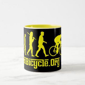 Yellow Rosso Yellow Jersey Cycling Evolution Two-Tone Coffee Mug