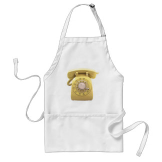 Yellow Rotary Phone Adult Apron