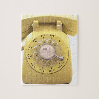 Yellow Rotary Phone Jigsaw Puzzle