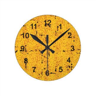 Yellow Round Clock