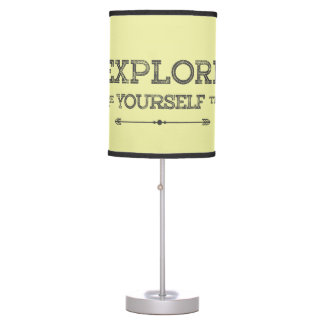 Yellow Round Table Lamp - Quote Explore