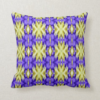 yellow royal blue purple night sky star sun galaxy throw pillow