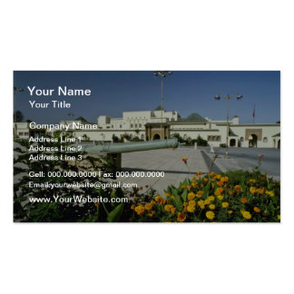 yellow Royal palace, Rabat, capital of Morocco flo Double-Sided Standard Business Cards (Pack Of 100)