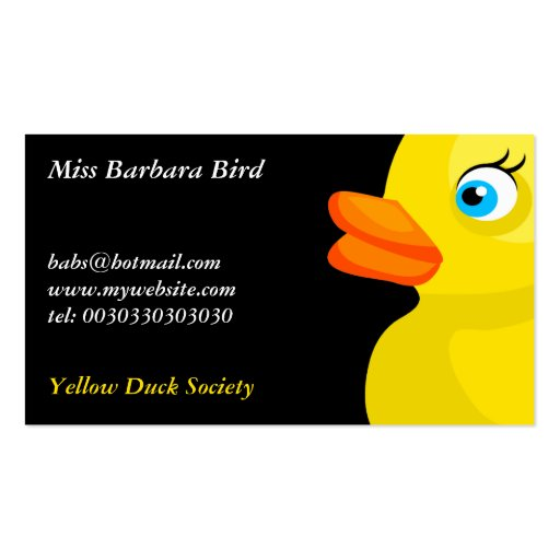 Yellow rubber duck business card templates zazzle for Rubber business cards
