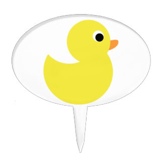Yellow Rubber Duck Cake Toppers