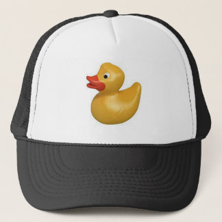 yellow rubber duck design trucker hat