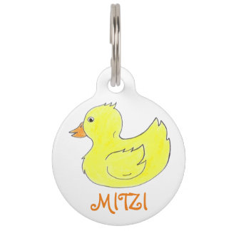 Yellow Rubber Duck Duckie Ducky Toy Pet Dog Tag