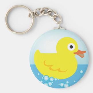 Yellow Rubber Duck Keychain
