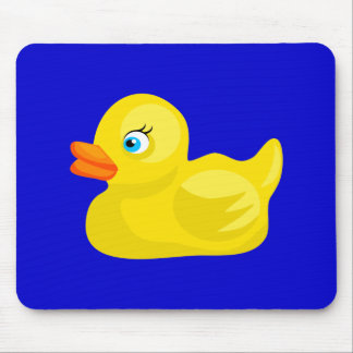 Yellow Rubber Duck Mouse Pad