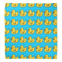Yellow Rubber Duck Pattern Bandana