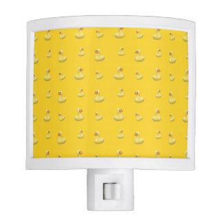 Yellow rubber duck pattern night light