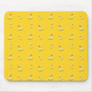 Yellow rubber duck pattern mouse pad