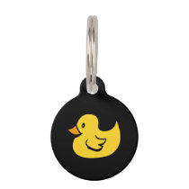 Yellow Rubber Duck Pet ID Tag