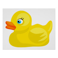 yellow rubber duck print